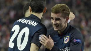 Auteur d'un doublé, Antoine Griezmann a envoyé l'Atletico Madrid en demi-finale de la Ligue des champions.