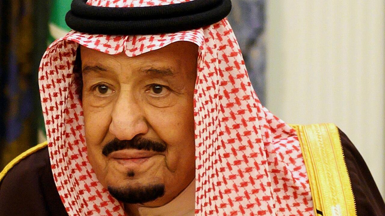 العاهل السعودي الملك سلمان بن عبد العزيز في الرياض. 14 يناير/كانون الثاني 2019.