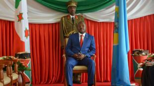 Le président burundais Pierre Nkurunziza à Bujumbura, le 29 juin 2017.