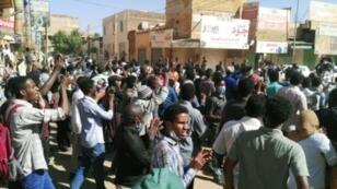 مظاهرة ضد الحكومة في الخرطوم 6 يناير/كانون الثاني 2019