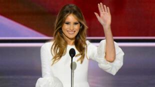 Lors de la convention républicaine de Cleveland, le candidat Donal trump a laissé la parole à sa femme Melania.