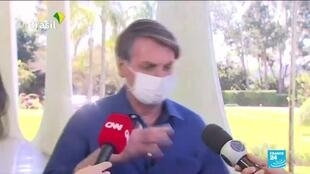 2020-07-08 10:02 Brazil's Bolsonaro waves off concern over positive Covid-19 result