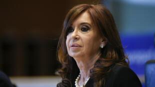 Cristina Kirchner, le 10 mai 2017, au Parlement européen de Bruxelles.