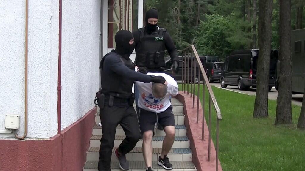 Uno de los 33 rusos detenidos por pertenecer supuestamente al grupo mercenario Wagner. El 29 de julio de 2020.