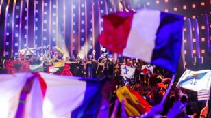Los 10 semifinalistas del 63° Festival de la canción de Eurovisión (ESC) celebran en el escenario el martes 8 de mayo de 2018, en el Altice Arena de Lisboa (Portugal).