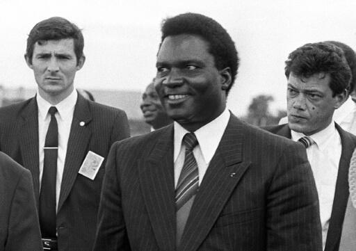 Rwandan president Juvenal Habyarimana (C) was killed when his plane was shot down in 1994, triggering the genocide of some 800,000 in the east African country.