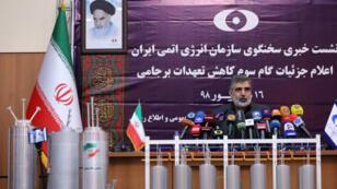 Behrouz Kamalvandi, vocero de la Agencia de Energía Atómica de Irán ofreció una conferencia de prensa el sábado 7 de septiembre de 2019.