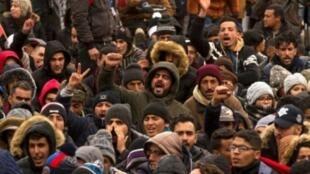 مظاهرة في جرادة في 27 كانون الأول/ديسمبر 2017.