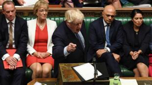 Le Premier ministre Boris Johnson, le 25 septembre 2019, au Parlement britannique.