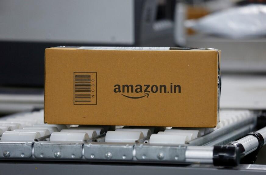 Un paquete en un Centro de Cumplimiento de Amazon en India el 18 de septiembre de 2018.