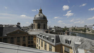 The dome of the Academie Française (French Academy) is shown here on July 18 in Paris.