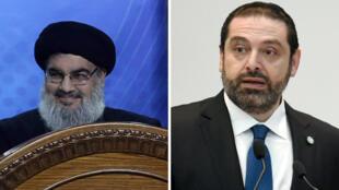 رئيس الحكومة اللبنانية سعد الحريري والأمين العام لحزب الله حسن نصر الله