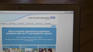 Attaque contre le système informatique du système public de santé en Angleterre, le 12 mai 2017