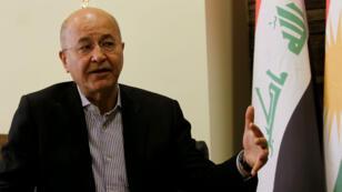 Barham Saleh lors d'une interview à Sulaimaniyah, en Irak, le 8 mai 2018.