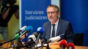 Le procureur de la République de Lyon Nicolas Jacquet face à la presse le 1er septembre 2019.
