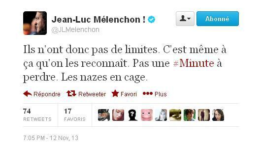 Jean6luc Mélanchon réagit sur Twitter