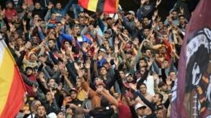 جماهير الترجي التونسي تشجع فريقها أمام بريميرو دي أغوستو الأنغولي 23 تشرين الأول/أكتوبر 2018