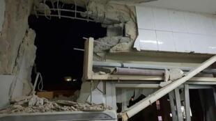 Les dégâts dans une maison syrienne après les frappes israéliennes.