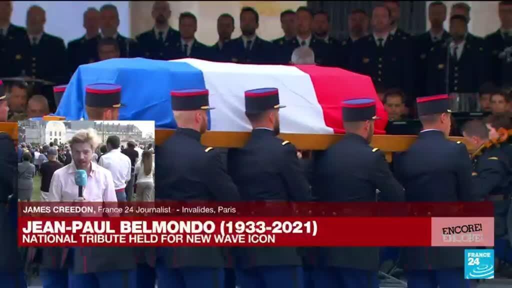 2021-09-09 17:13 National tribute led by President Macron for new wave icon Belmondo