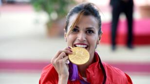 L'athlète tunisienne Habiba Ghribi a reçu en juin dernier les deux médailles d'or du 3000 mètres steeple des JO-2012 et des Mondiaux 2011 après la disqualification pour dopage de sa concurrente russe Yuliya Zaripova.