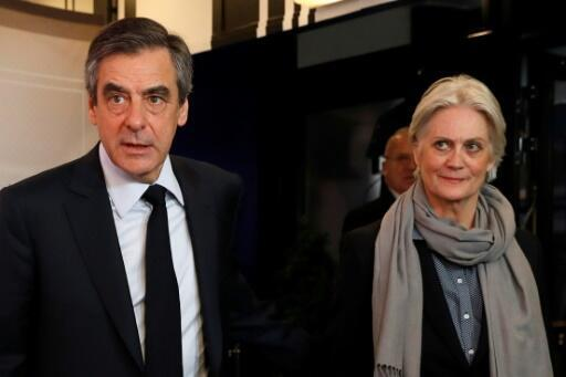 Francois Fillon and his wife Penelope during the 2017 presidential campaign