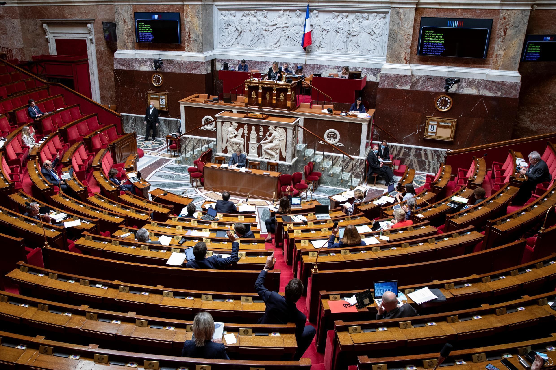L'Assemblée nationale, le 8 mai 2020 à Paris