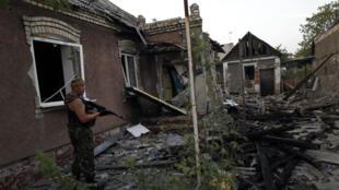 Un rebelle pro-russe à Donetsk, vendredi