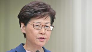 La cheffe du gouvernement local de Hong Kong, Carrie Lam, a tenu une conférence de presse à Hong Kong le 9 juillet 2019.