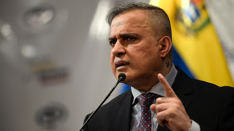 El fiscal general de Venezuela, Tarek William Saab, pronuncia una conferencia de prensa en Caracas el 19 de septiembre de 2019.