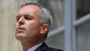 François de Rugy lors de sa passation de pouvoir au ministère de la Transition écologique après sa démission, le 17 juillet 2019.
