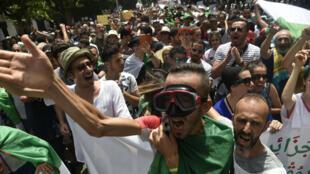 Manifestation à Alger, le 5 juillet 2019.