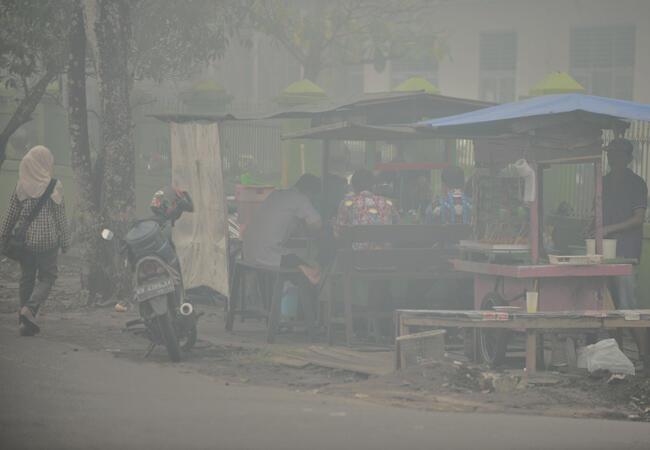 La population indonésienne vit dans le brouillard permanent depuis plusieurs semaines et souffre de maladies respiratoires.