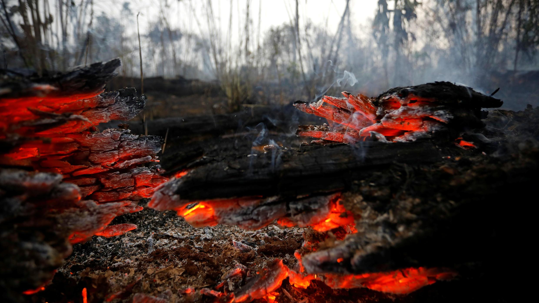 La ciudad de Apuí es una de las más afectadas por los incendios en la Amazonía brasileña. 30 de agosto de 2019.