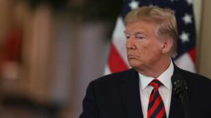 Le président américain Donald Trump lors d'une conférence de presse avec le Premier ministre australien Scott Morrisson à Washington, le 20 septembre 2019.