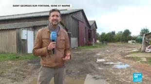 France 24 est allé à la rencontre des agriculteurs de la région de Rouen inquiets par les conséquences de l'incendie de l'usine classée Seveso.