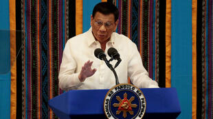 Philippine President Rodrigo Duterte, who issued a stark warning April 1, 2020 to violators of the country's coronavirus lockdown.