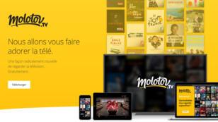 La plateforme Molotov propose aux internautes de visionner les programmes d'au moins 33 chaînes en direct, replay ou enregistrés.
