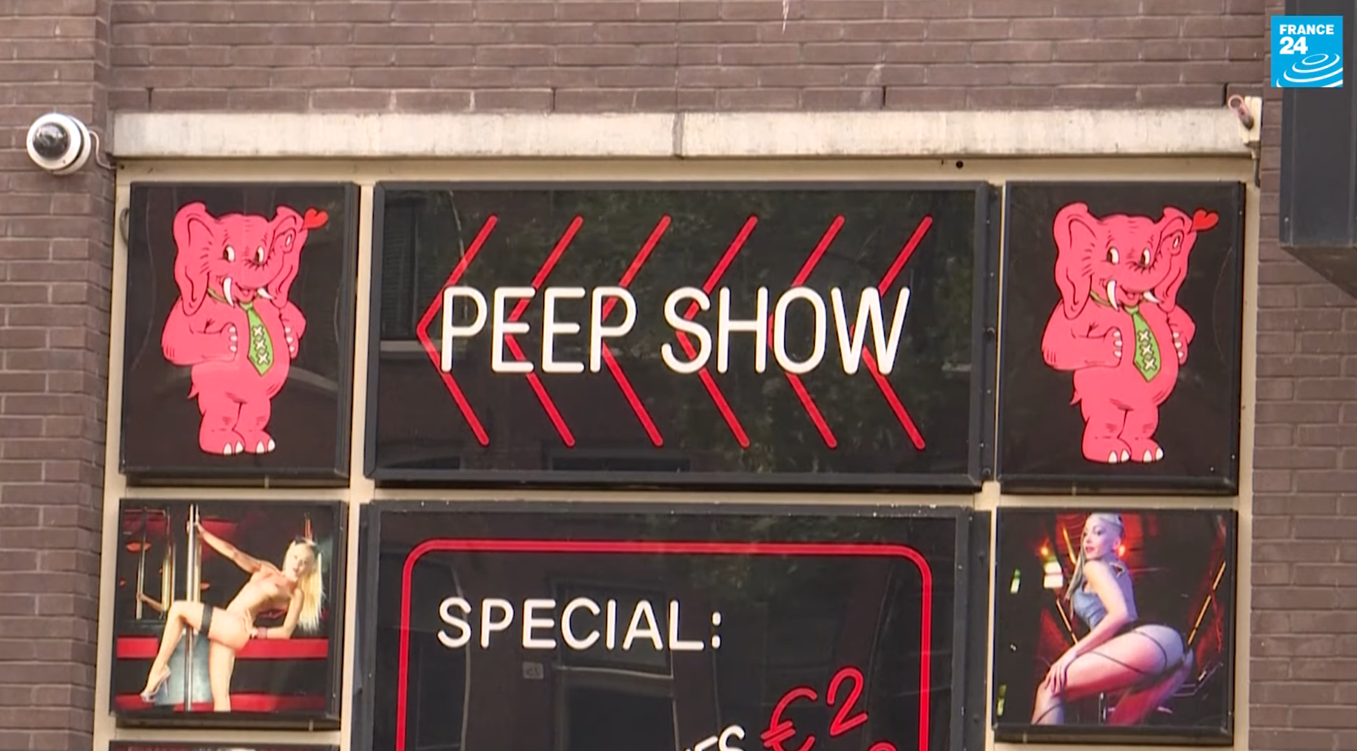 Amsterdam red light district reopens, July 2 2020.