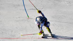 Le skieur français Alexis Pinturault lors de sa deuxième place du combiné des Mondiaux à Cortina d'Ampezzo, Italie, le 15 février 2021