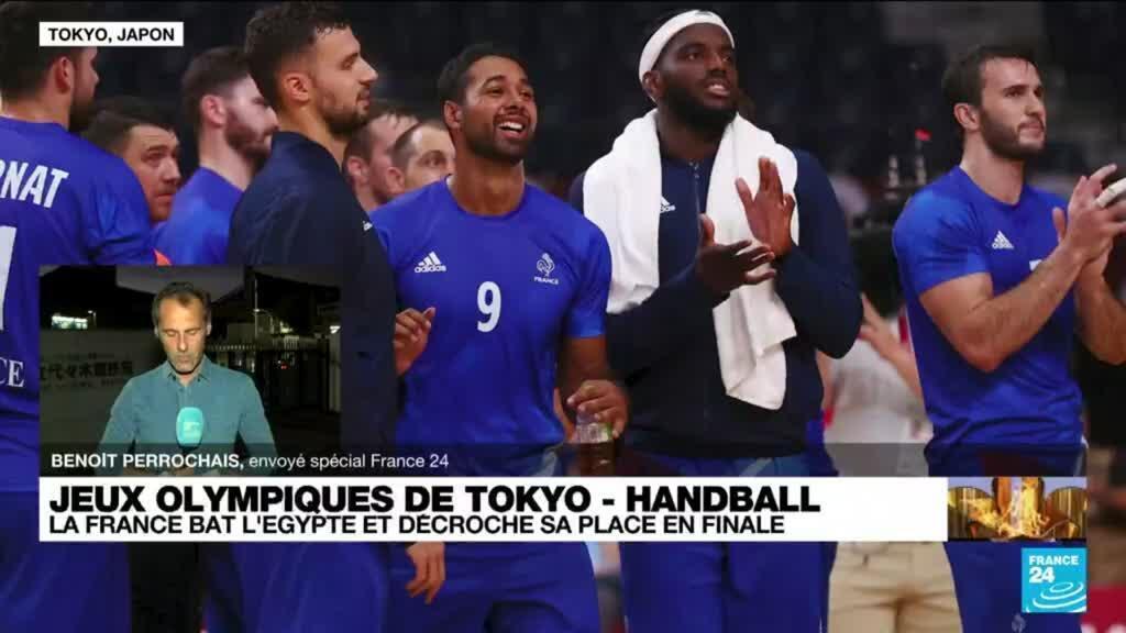 2021-08-05 12:43 JO de Tokyo  - Handball : la France bat l'Égypte et décroche sa place en finale