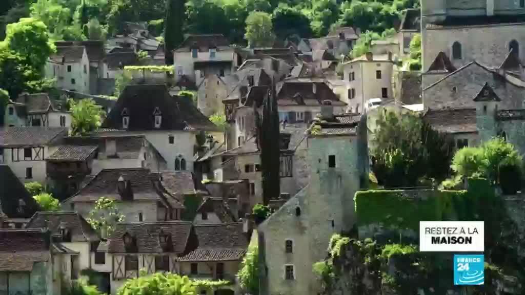 2020-05-07 07:14 Saint-Cirq-Lapopie, village médiéval tétanisé par la crise du tourisme