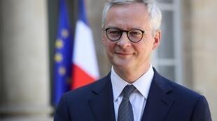Le ministre de l'Economie Bruno Le Maire à l'Elysée, le 24 avril 2020
