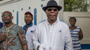 L'ancien président béninois Thomas Boni Yayi à Cotonou le 19avril2019.