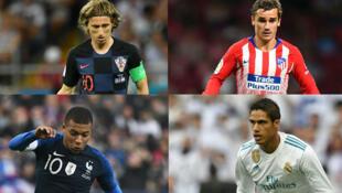 Qui de Luka Modric, Antoine Griezman, Kylian Mbappé ou Raphaël Varane remportera le ballon d'or ? Réponse ce lundi  soir.