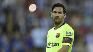 Lionel Messi, accroché avec le Barça mais toujours leader de Liga.