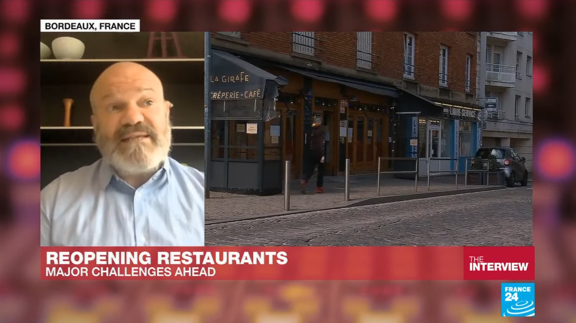 Michelin-starred chef Philippe Etchebest warns about the state of the French restaurant industry.