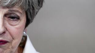 En esta foto de archivo tomada el 30 de junio de 2019, la exprimera ministra británica, Theresa May, llega a una Cumbre del Consejo Europeo en el edificio Europa en Bruselas, el 30 de junio de 2019.