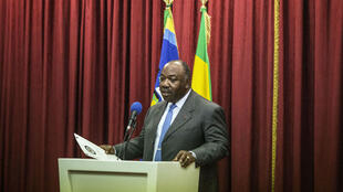 Ali Bongo Odimba lors d'une conférence de presse le 1er septembre 2016.