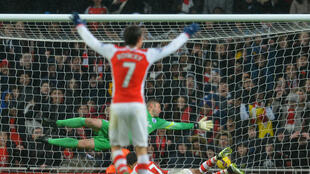 Le Tchèque Tomas Rosicky d'Arsenal a été le second buteur de son équipe contre QPR (2-1).