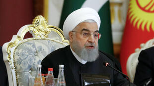El presidente iraní, Hasan Rohani, asiste a la Conferencia de Interacción y Medidas de Confianza en Asia (CICA) en Dusambé, Tayikistán, el 15 de junio de 2019